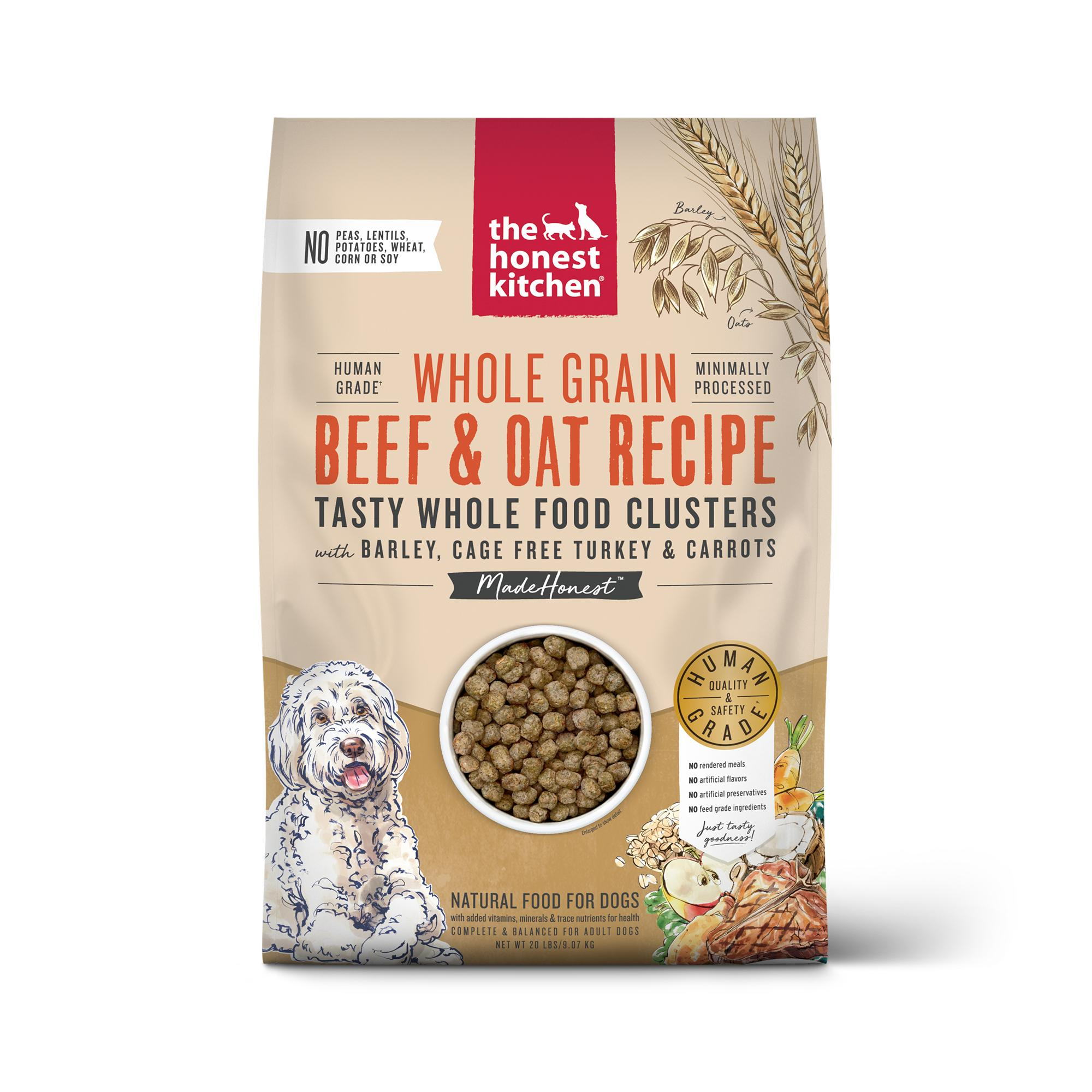 The Honest Kitchen Whole Food Clusters Beef, Turkey & Oat Dry Dog Food, 20-lb