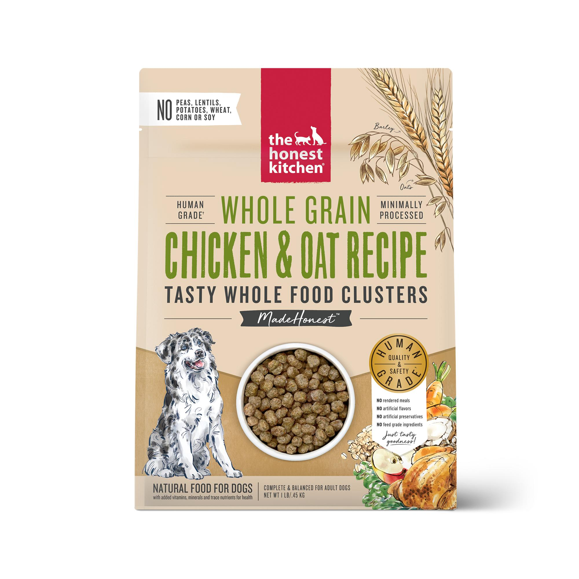 The Honest Kitchen Whole Food Clusters Chicken & Oat Dry Dog Food, 1-lb