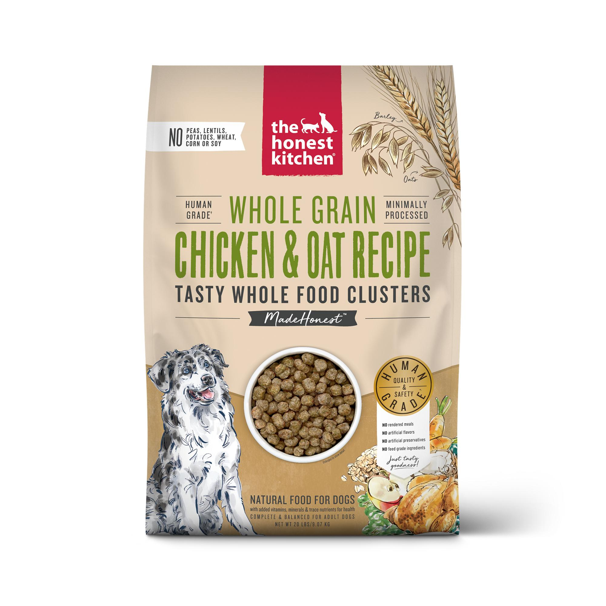 The Honest Kitchen Whole Food Clusters Chicken & Oat Dry Dog Food, 20-lb