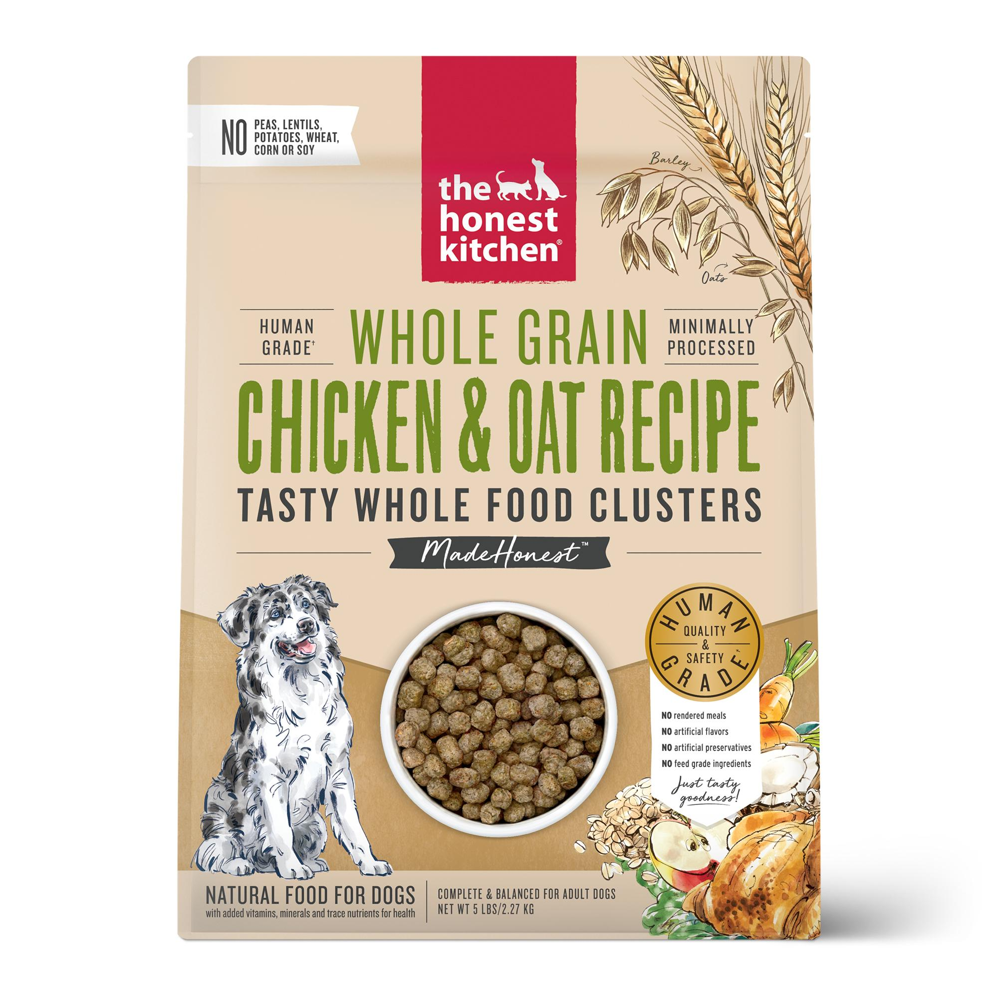 The Honest Kitchen Whole Food Clusters Chicken & Oat Dry Dog Food, 4-lb