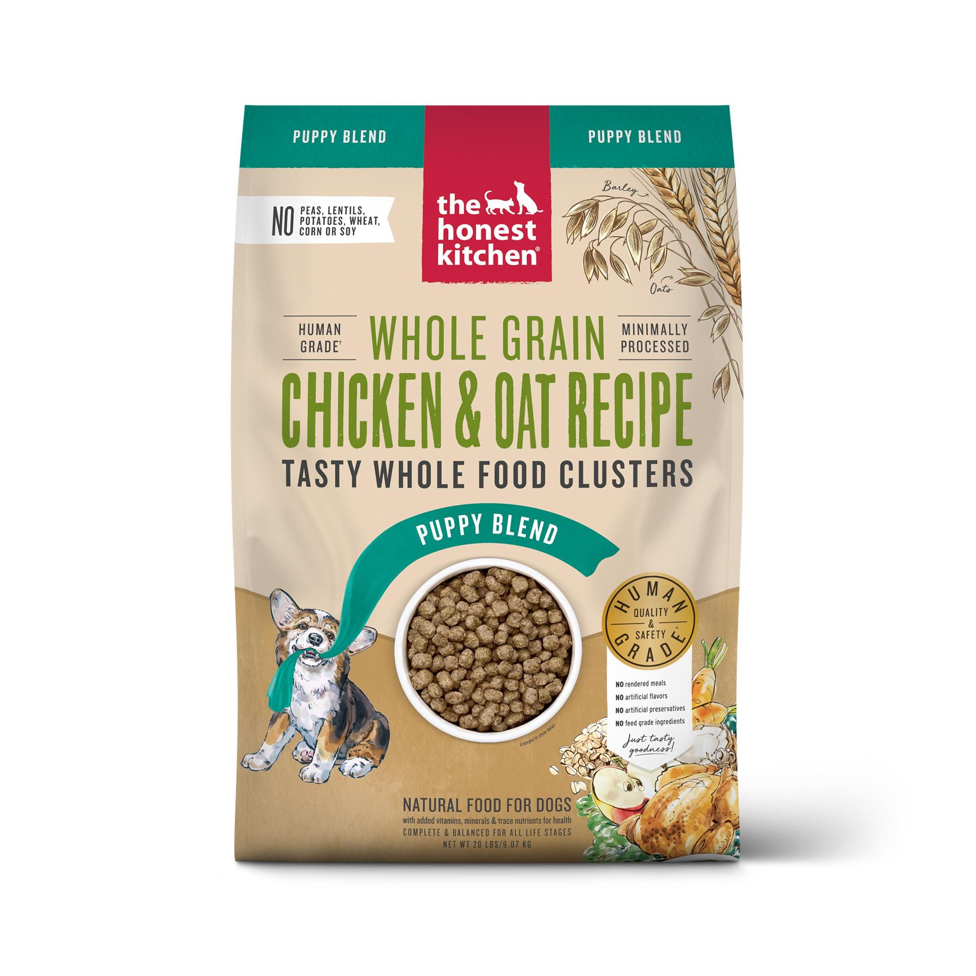 The Honest Kitchen Whole Food Clusters Chicken Puppy Dry Dog Food, 20-lb