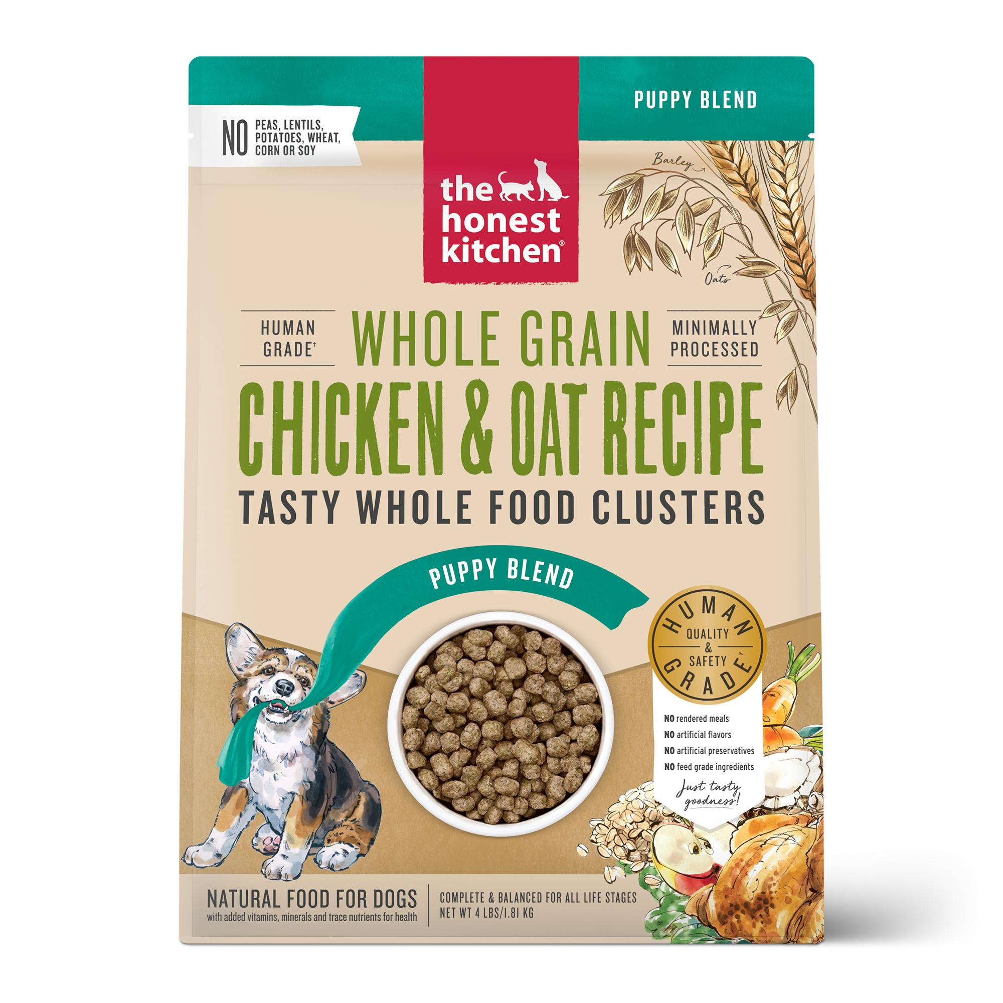 The Honest Kitchen Whole Food Clusters Chicken Puppy Dry Dog Food, 4-lb