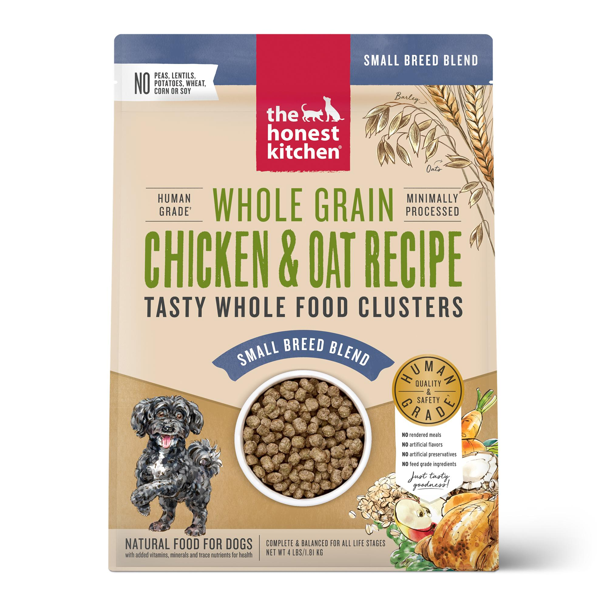 The Honest Kitchen Whole Food Clusters Chicken Small Breed Dry Dog Food, 4-lb