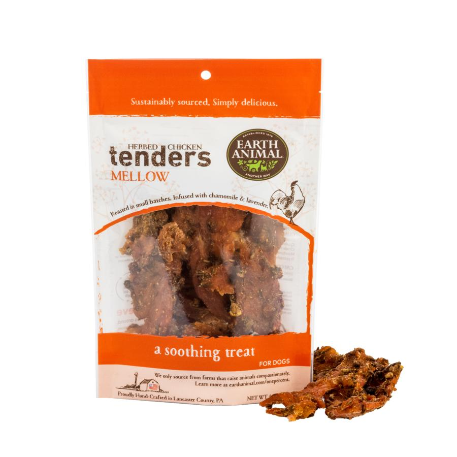 Earth Animal Herbed Chicken Tenders Mellow Dog Treats, 4-oz