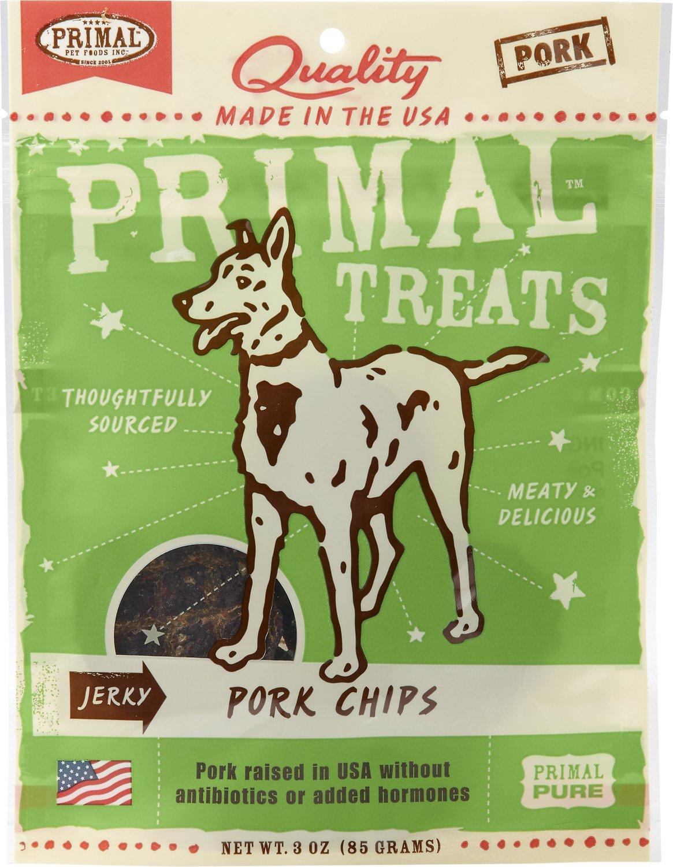 Primal Treats Pork Chips Jerky Dog Treats, 3-oz bag