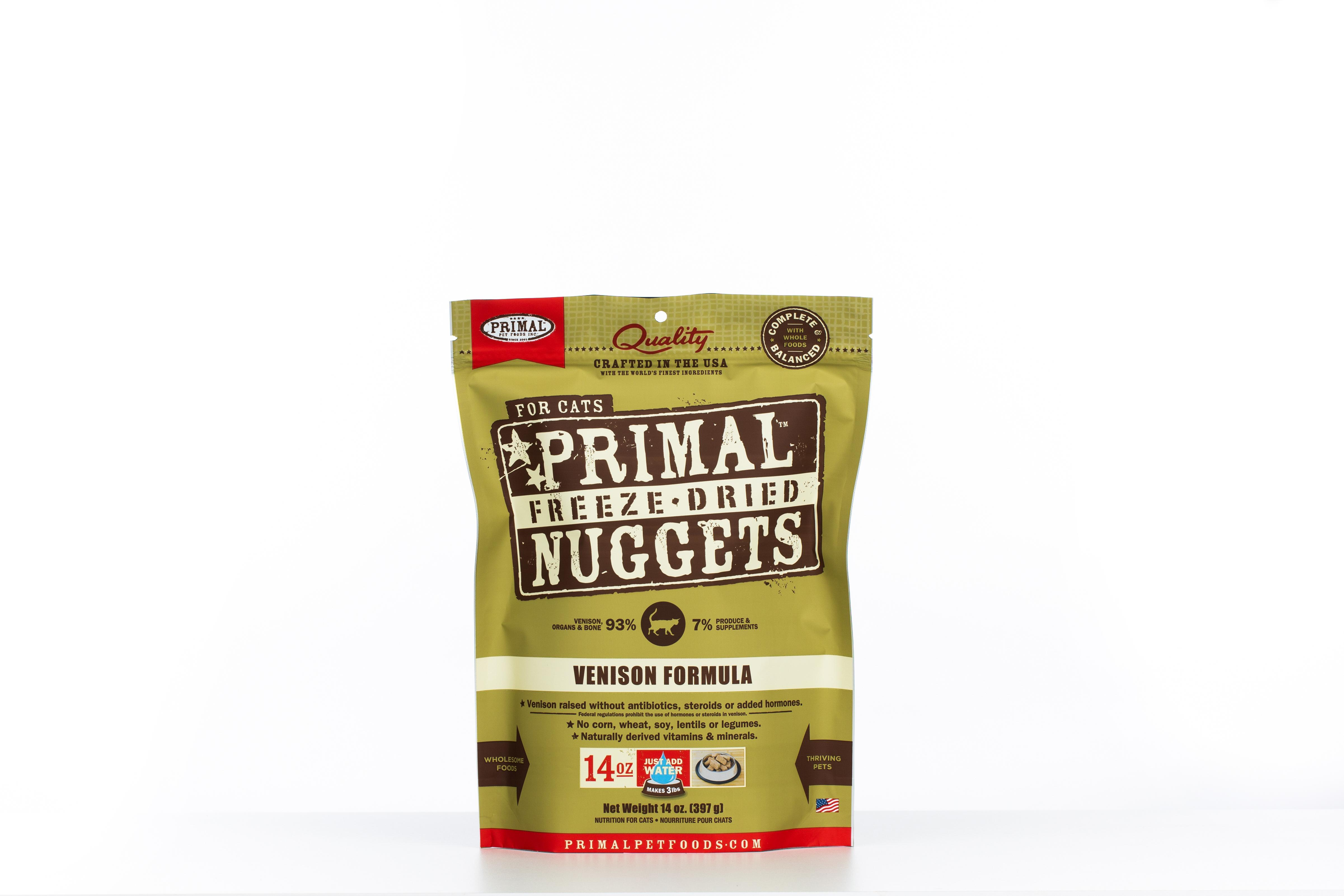Primal Raw Freeze-Dried Nuggets Venison Formula Cat Food, 14-oz bag