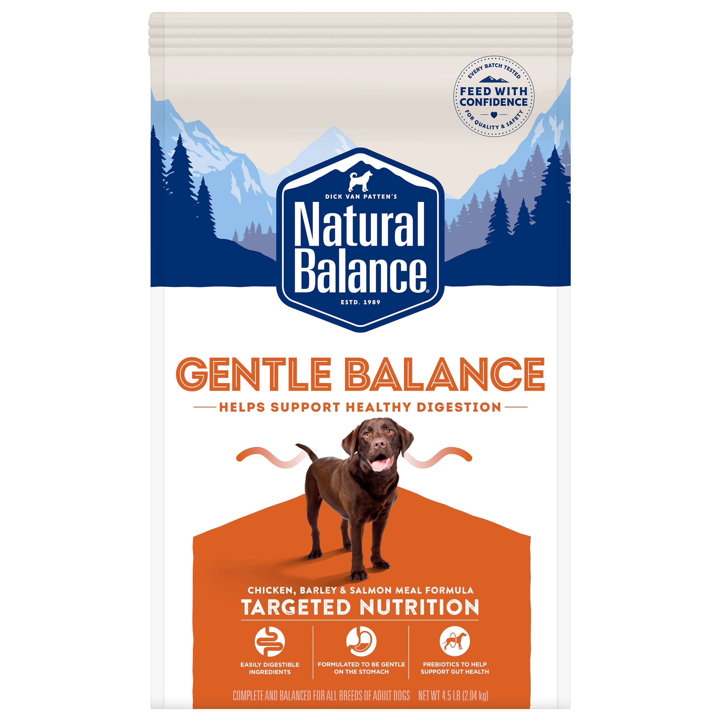 Natural Balance Targeted Nutrition Gentle Balance Chicken, Barley & Salmon Dry Dog Food, 4.5-lb