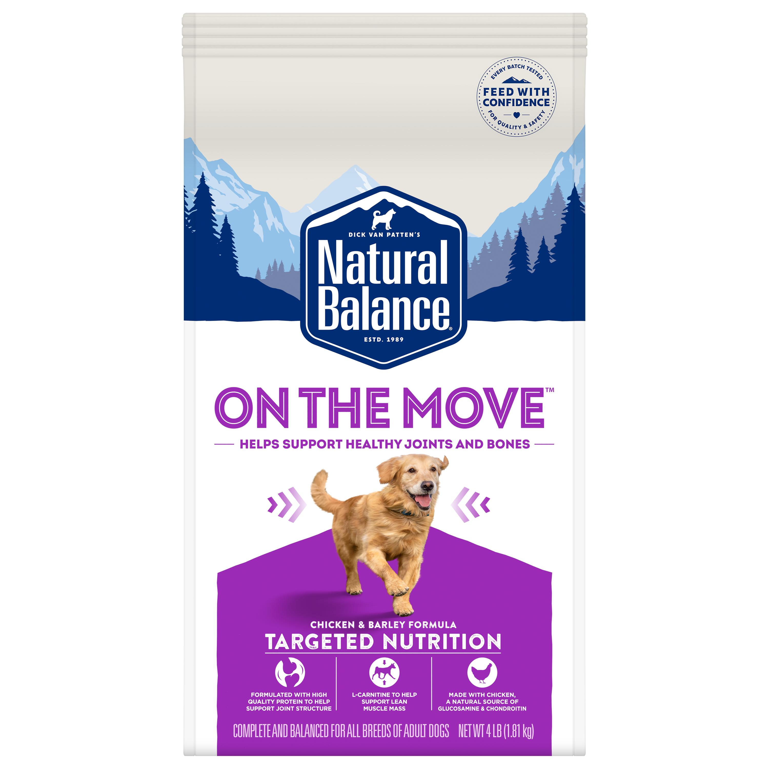 Natural Balance Targeted On the Move Chicken & Barley Dry Dog Food, 4-lb