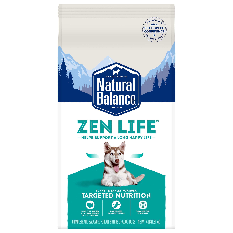 Natural Balance Targeted Nutrition Zen Life Turkey & Barley Dry Dog Food, 4-lb