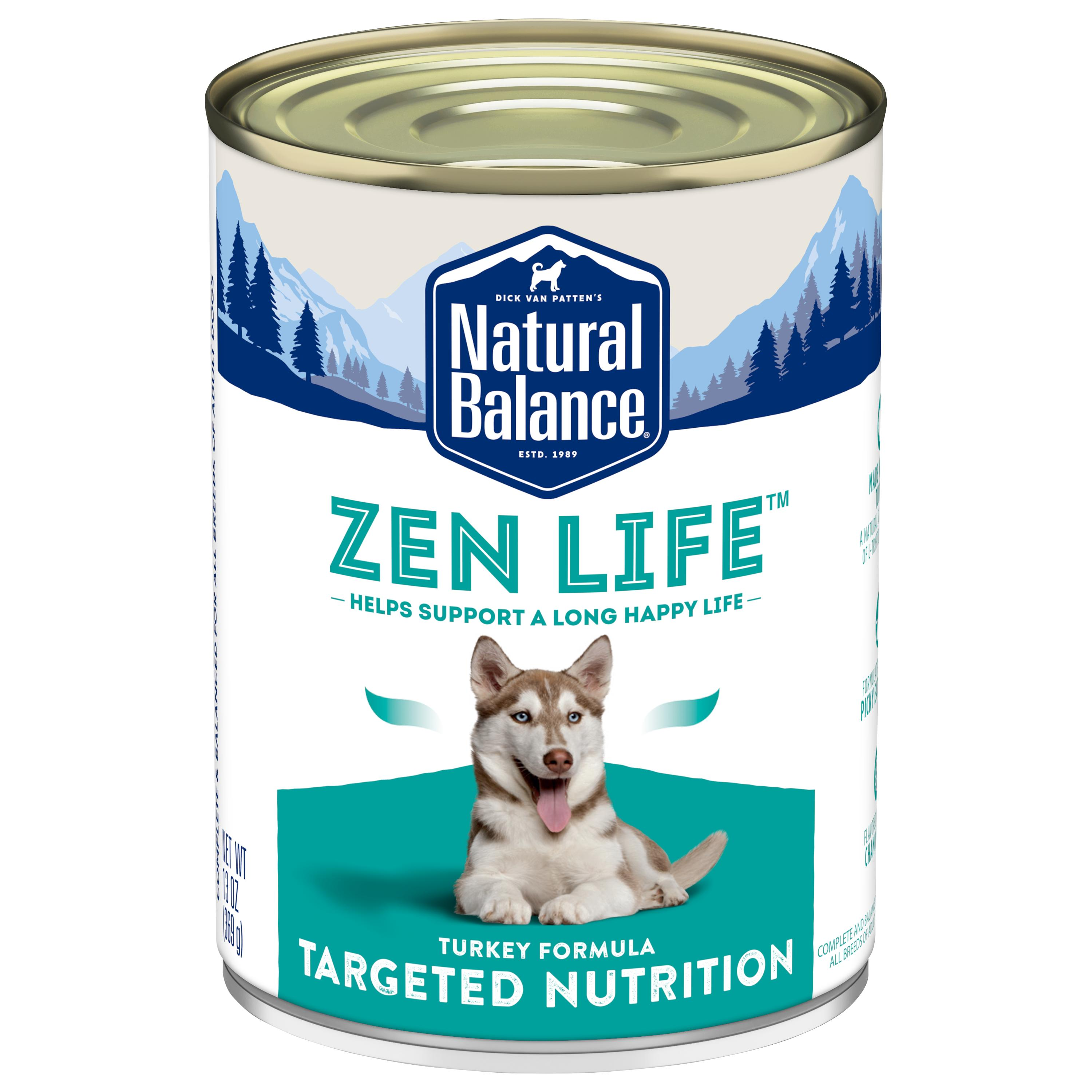 Natural Balance Targeted Nutrition Zen Life Turkey Canned Dog Food, 13-oz