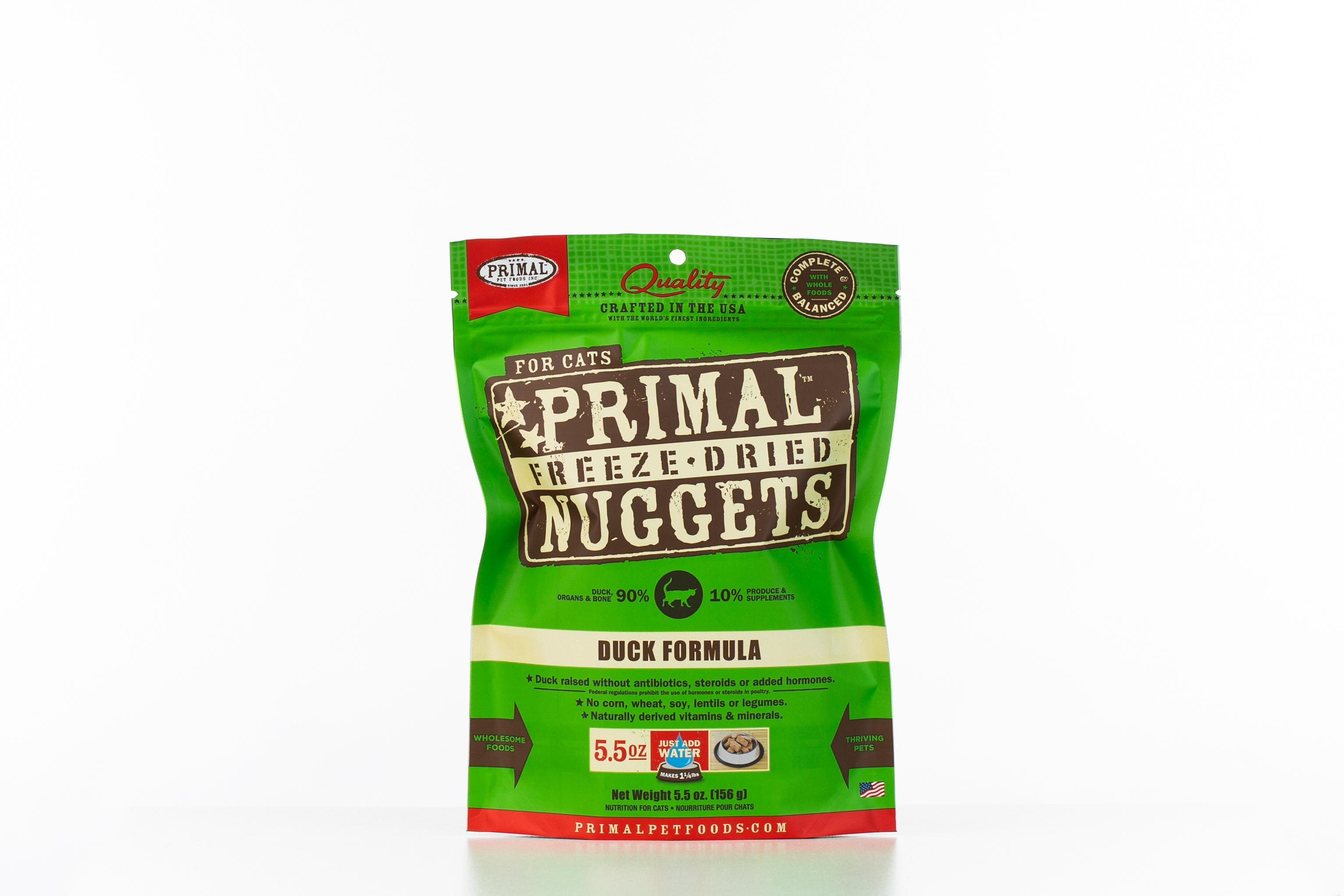 Primal Duck Formula Nuggets Grain-Free Raw Freeze-Dried Cat Food Image