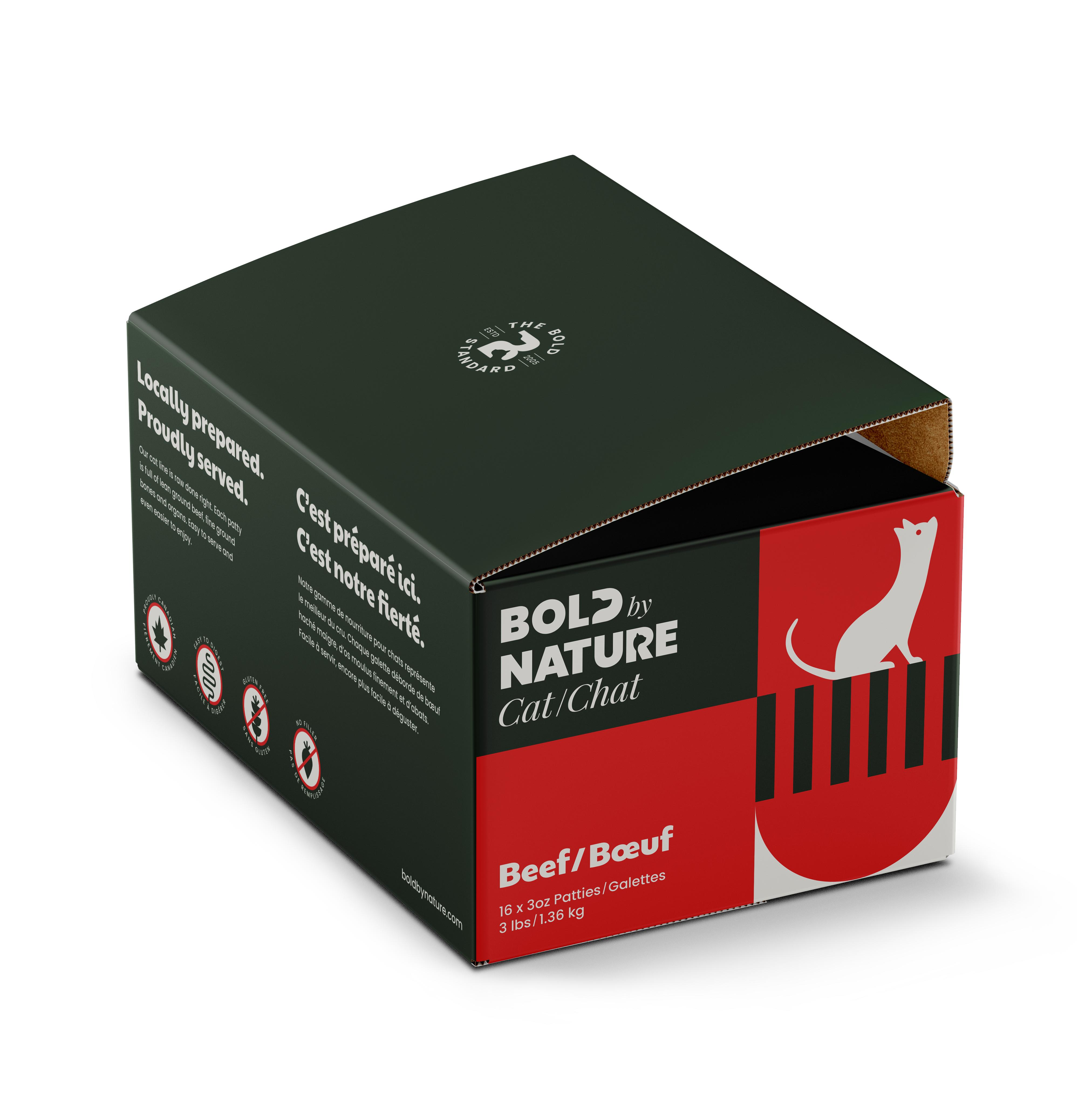 Bold by Nature Cat Beef Patties Cat Food Image