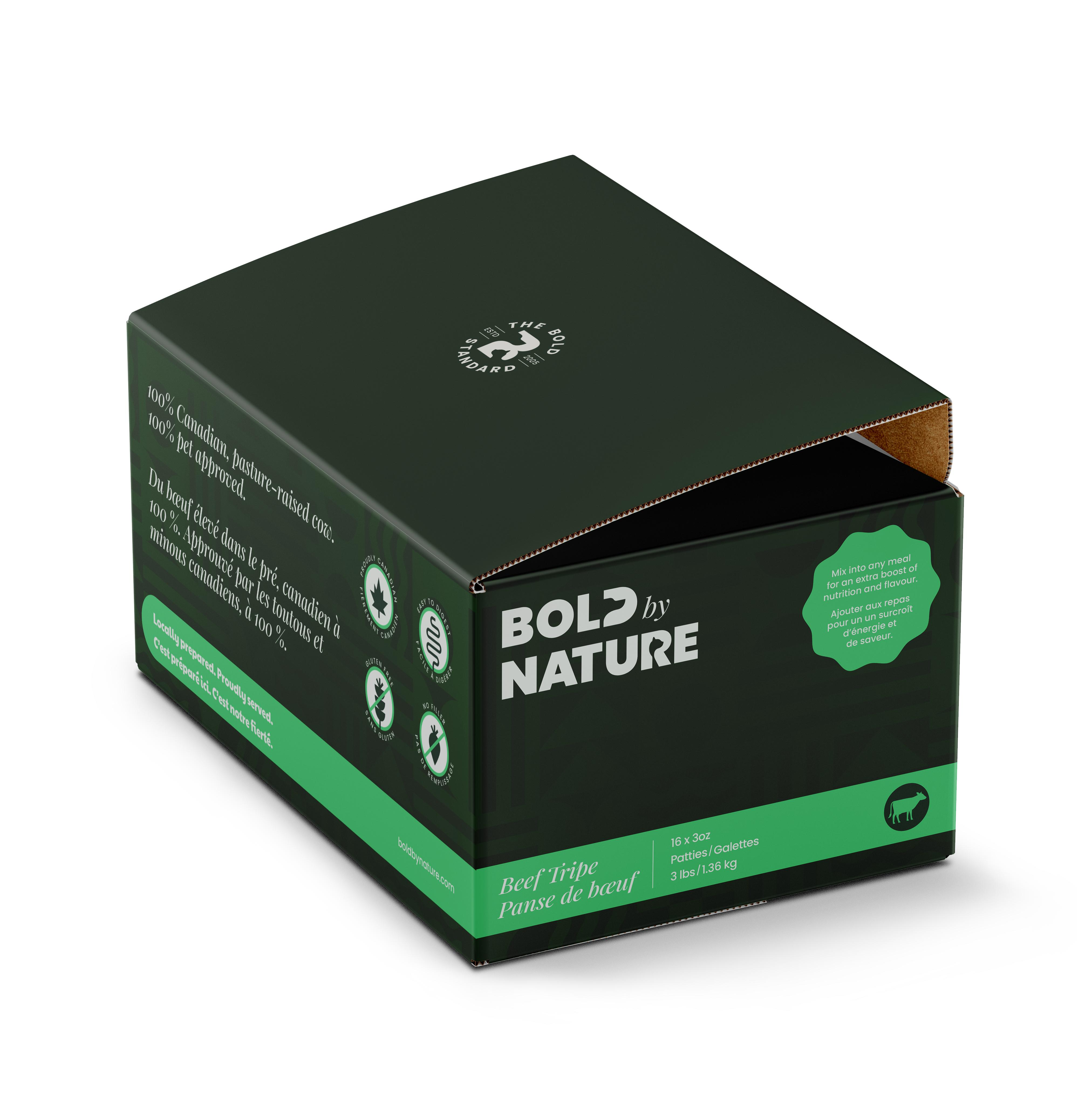 Bold by Nature Dog Beef Tripe Patties Dog Food Image
