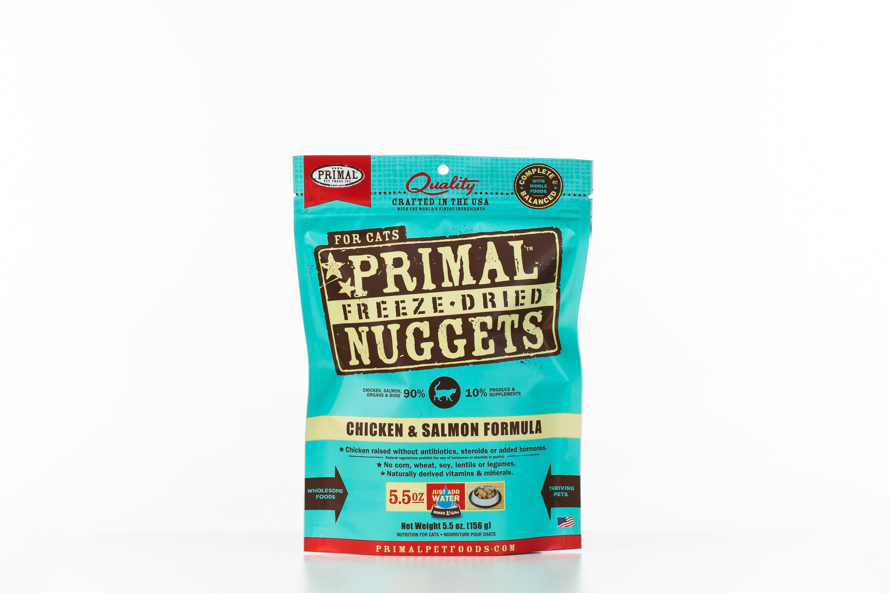 Primal Raw Freeze-Dried Nuggets Chicken & Salmon Formula Cat Food Image