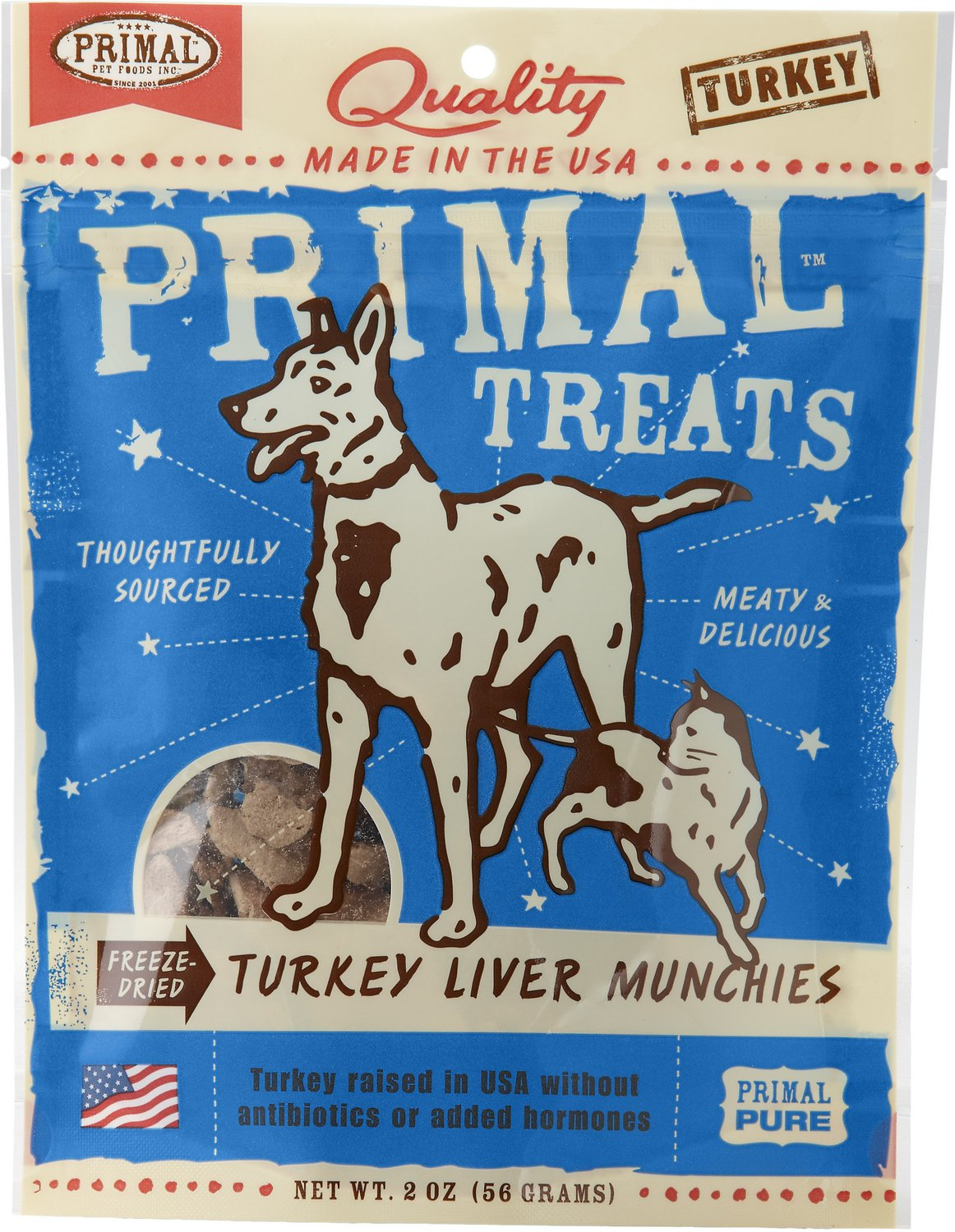Primal Treats Turkey Liver Munchies Freeze-Dried Dog & Cat Treats, 2-oz bag