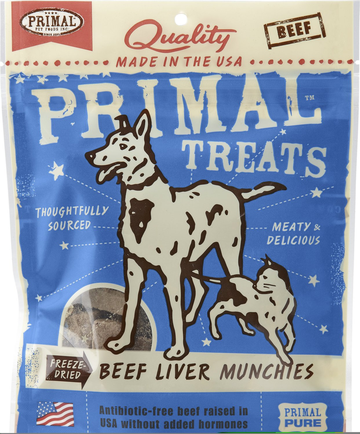 Primal Treats Beef Liver Munchies Freeze-Dried Dog & Cat Treats, 2-oz bag