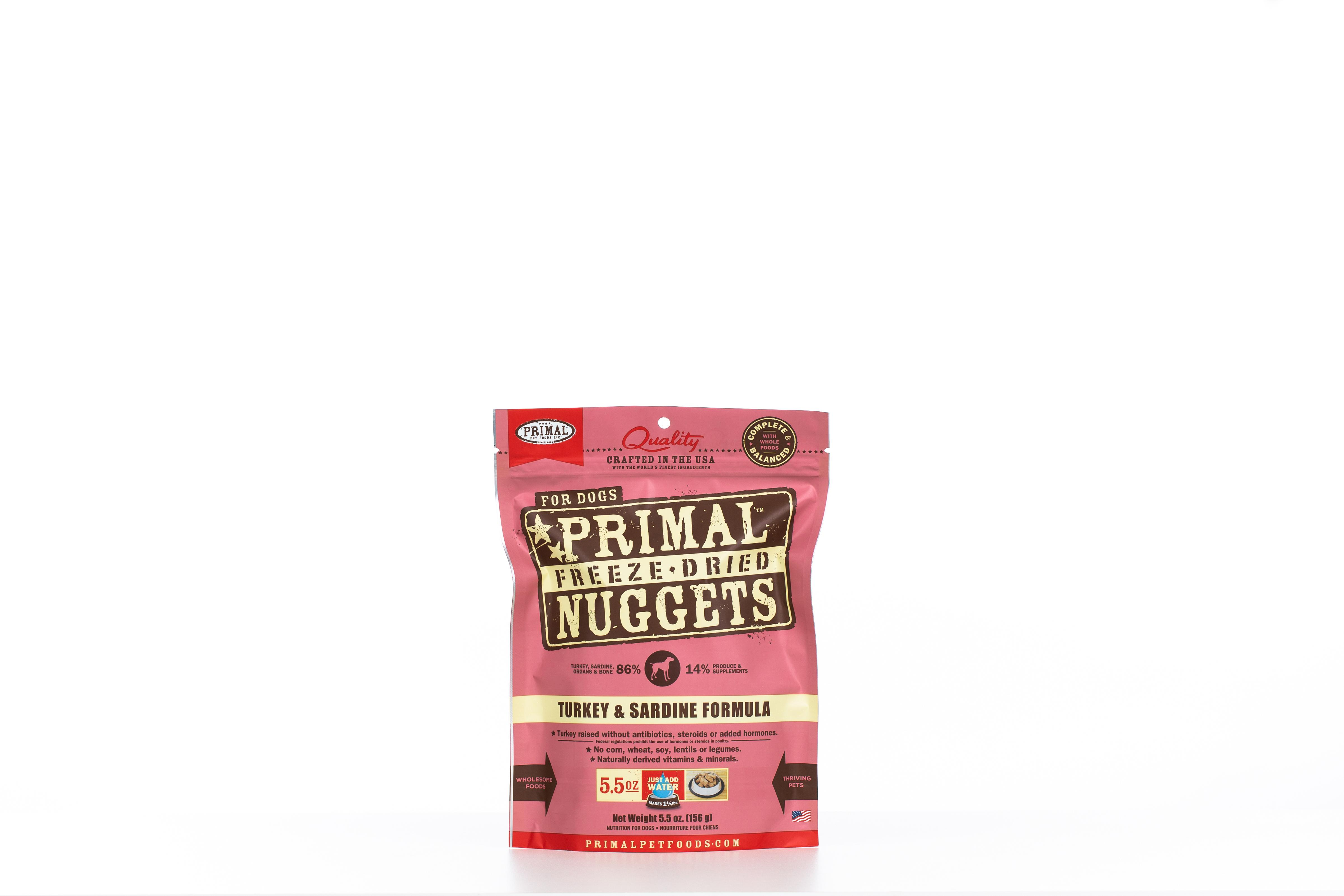 Primal Raw Freeze-Dried Nuggets Turkey & Sardine Formula Dog Food Image