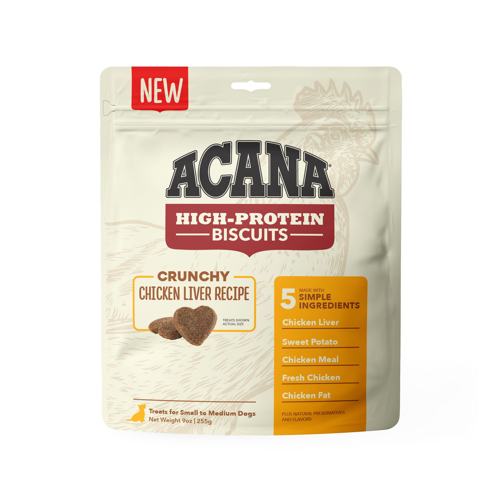 ACANA Crunchy Biscuits Chicken Liver Recipe Dog Treats, Small