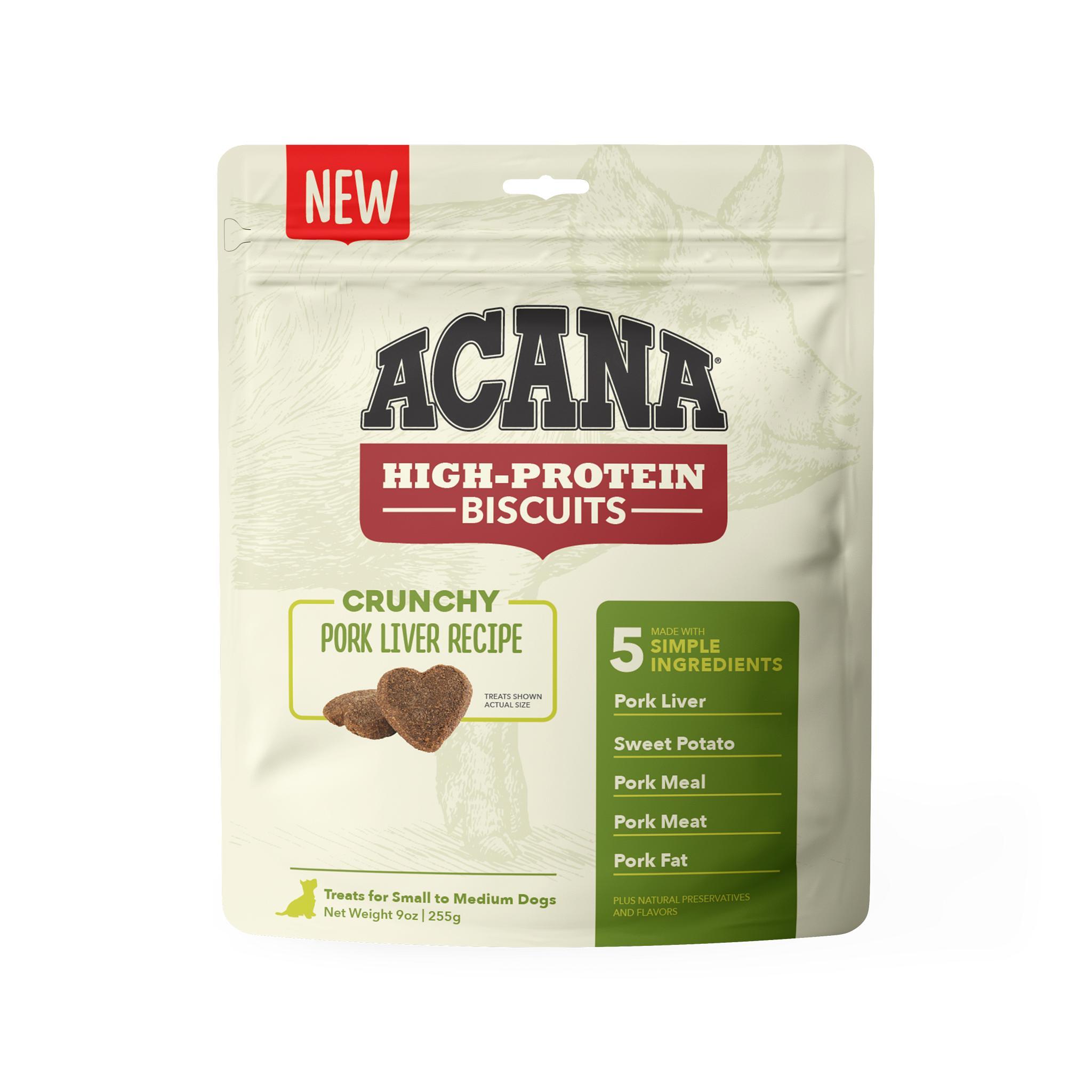 ACANA Crunchy Biscuits Pork Liver Recipe Dog Treats, Small