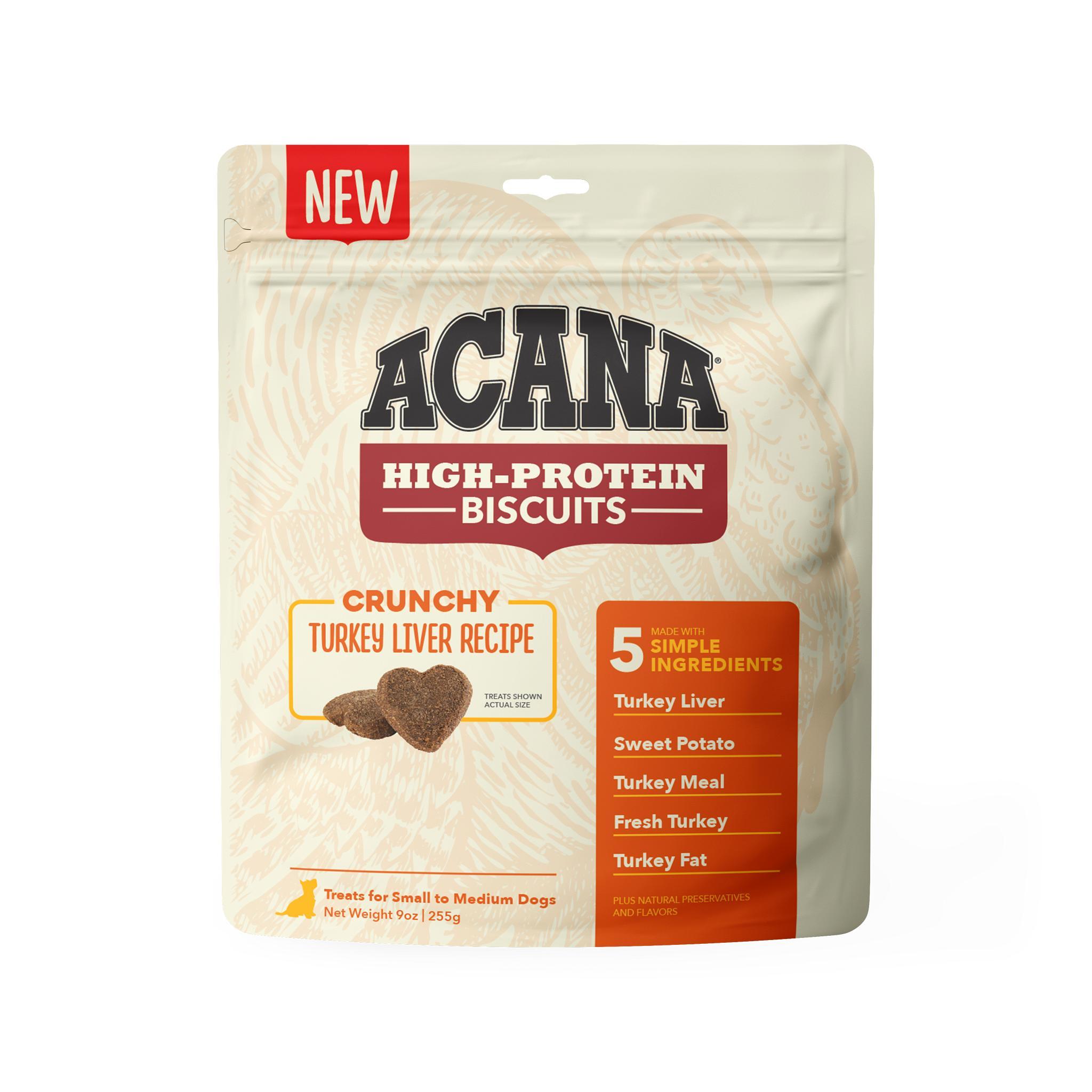 ACANA Crunchy Biscuits Turkey Liver Recipe Dog Treats, Small