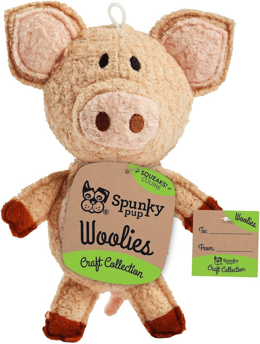 Spunky Pup Woolies, Pig, Mini