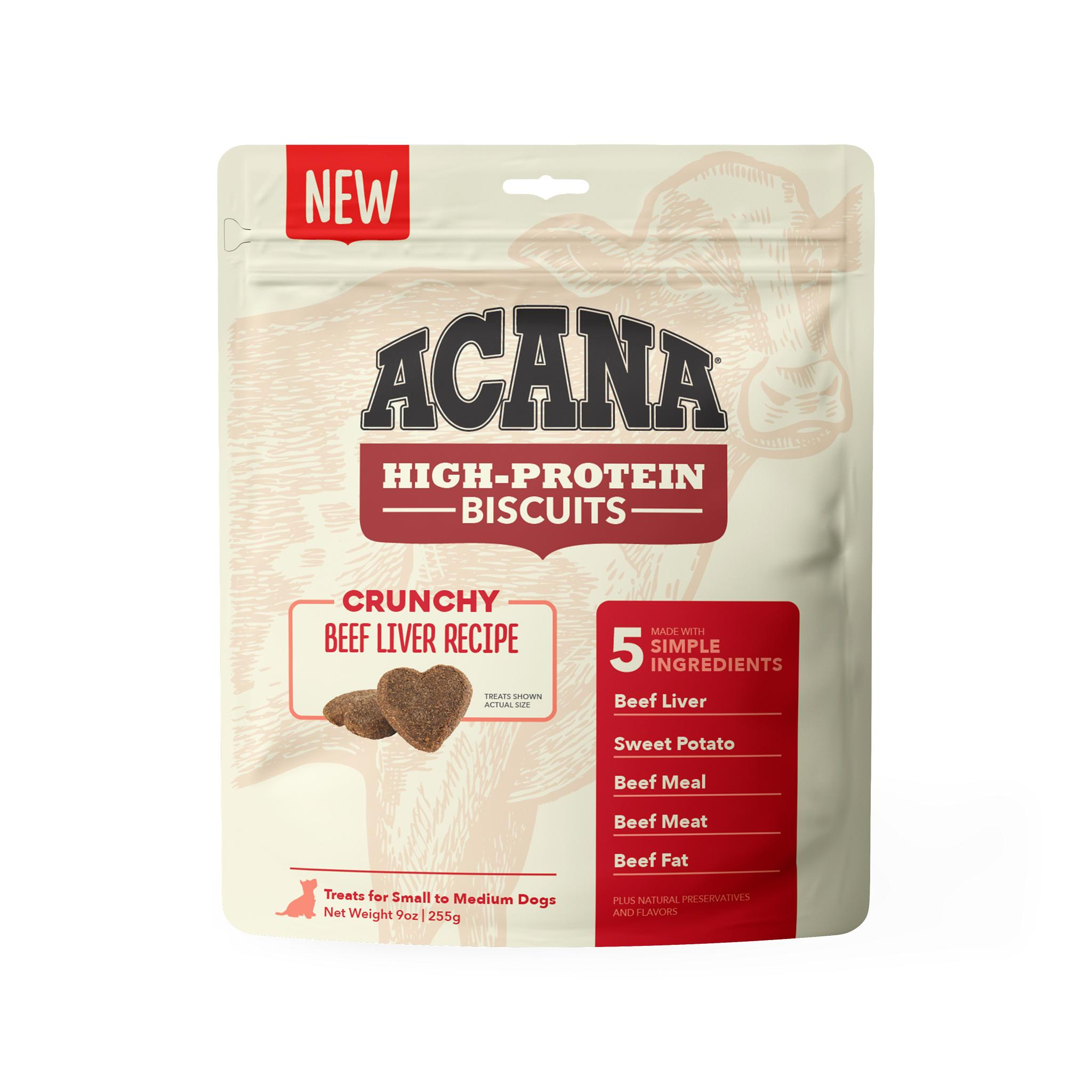 ACANA Crunchy Biscuits Beef Liver Recipe Dog Treats, Small