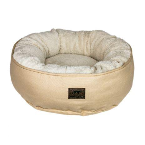 Tall Tails Dream Chaser Donut Dog Bed, Khaki, Small