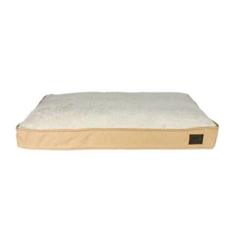 Tall Tails Dream Chaser Cushion Dog Bed, Khaki, Large