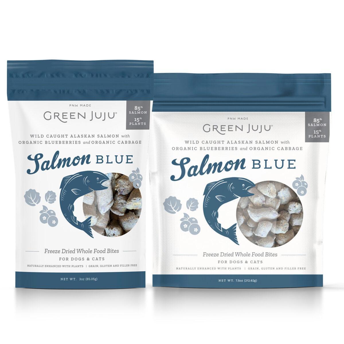 Green Juju Salmon Blue Freeze-Dried Dog & Cat Treats, 3-oz