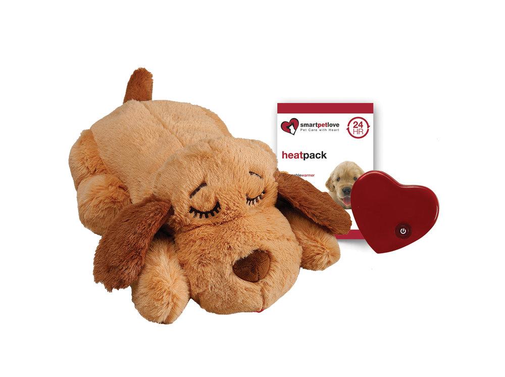 Smart Pet Love Snuggle Puppy Pet Calming Solutiong Dog Toy, Golden