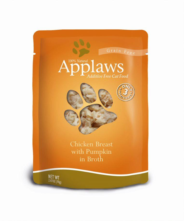 Applaws Chicken Breast with Pumpkin in Broth Wet Cat Food, 2.4-oz