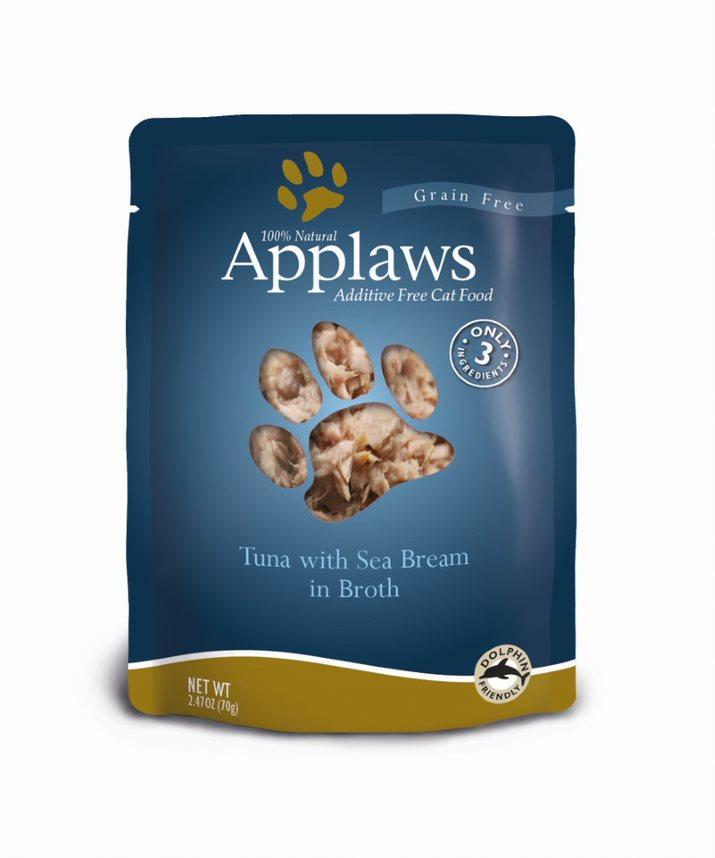 Applaws Tuna with Sea Bream in Broth Wet Cat Food, 2.4-oz