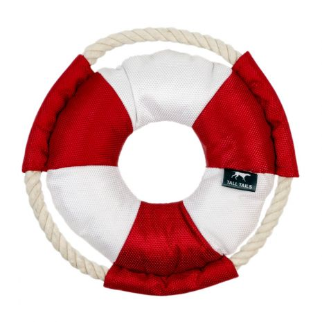Tall Tails Life Buoy with Squeaker, 8-in