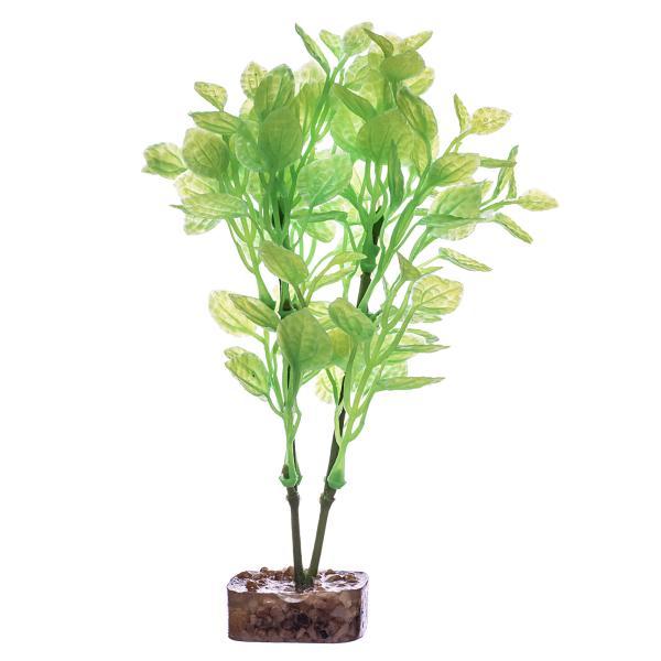 GloFish Aquarium Plant, Green/Yellow, Medium