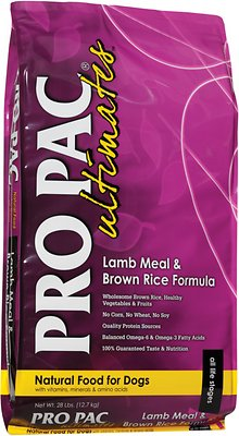 Pro Pac Ultimates Lamb Meal & Brown Rice Dry Dog Food, 5-lb