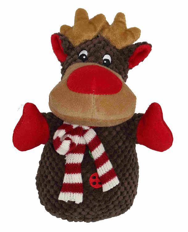 Petlou Christmas Reindeer Dog Toy, 8-in