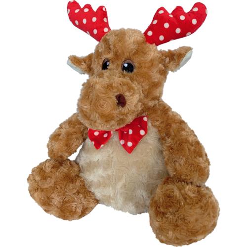 Petlou Christmas Polka Dot Reindeer Dog Toy, 10-in