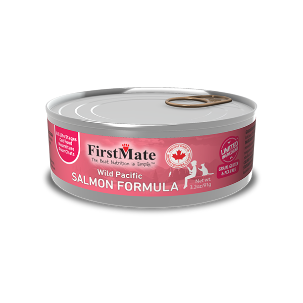 FirstMate Limited Ingredient Wild Pacific Salmon Wet Cat Food, 3.2-oz