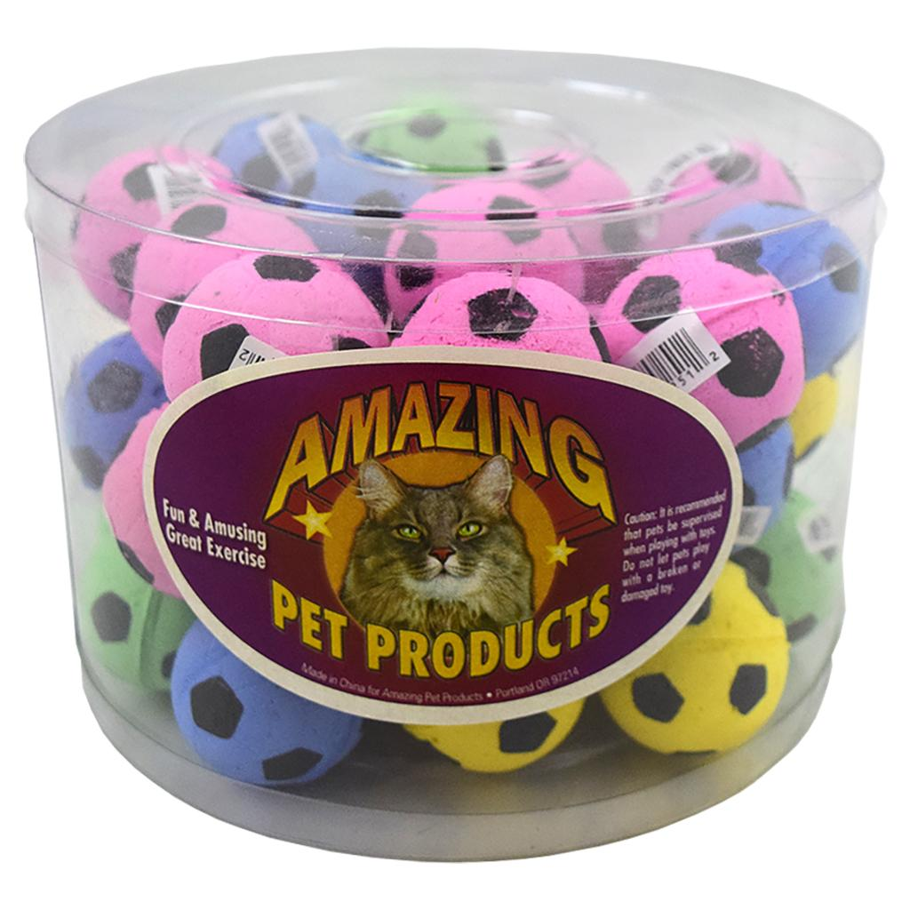 Amazing Pet Products Sponge Soccer Balls Pet Toy, 40-pk