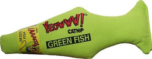 Yeowww! Catnip Fish Cat Toy, Green