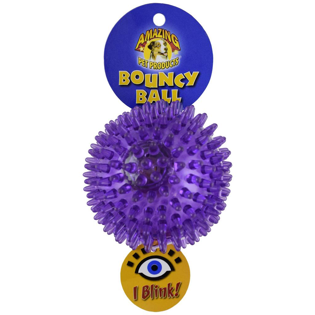 Amazing Pet Products Bouncy Ball Blink Dog Toy, 3.3-in