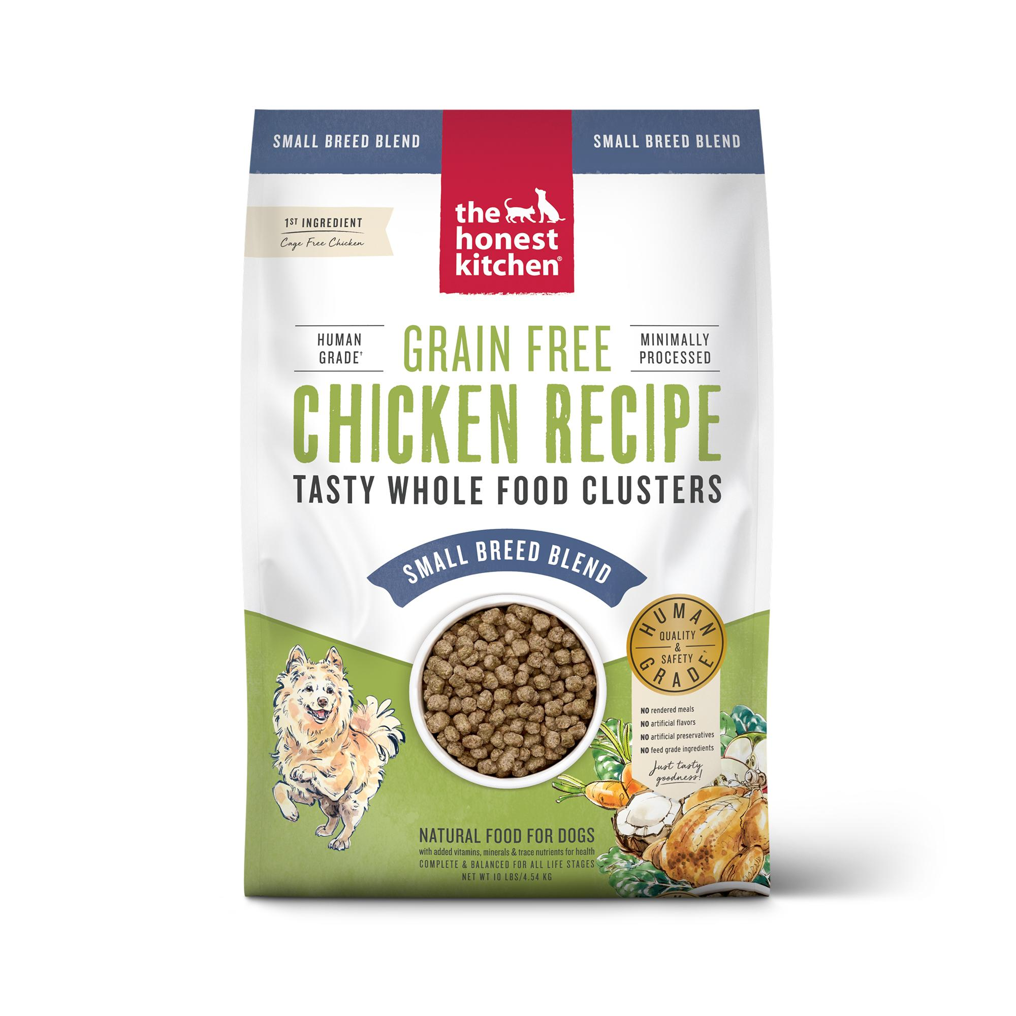 The Honest Kitchen Whole Food Clusters Chicken Small Breed Grain-Free Dry Dog Food, 10-lb