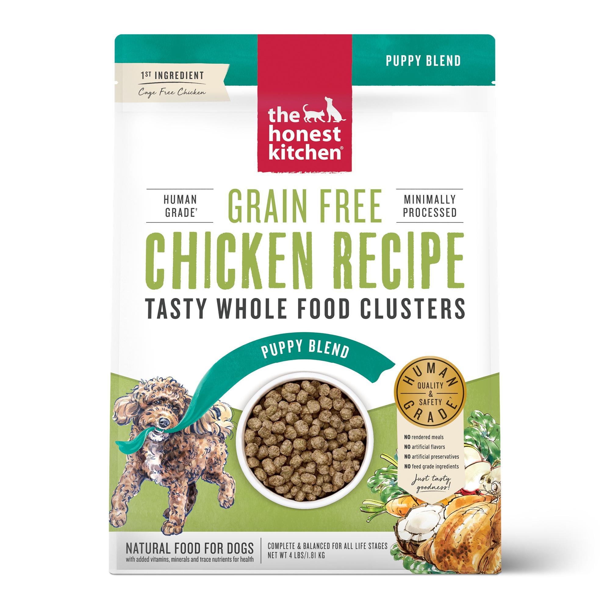 The Honest Kitchen Whole Food Clusters Chicken Puppy Grain-Free Dry Dog Food, 4-lb