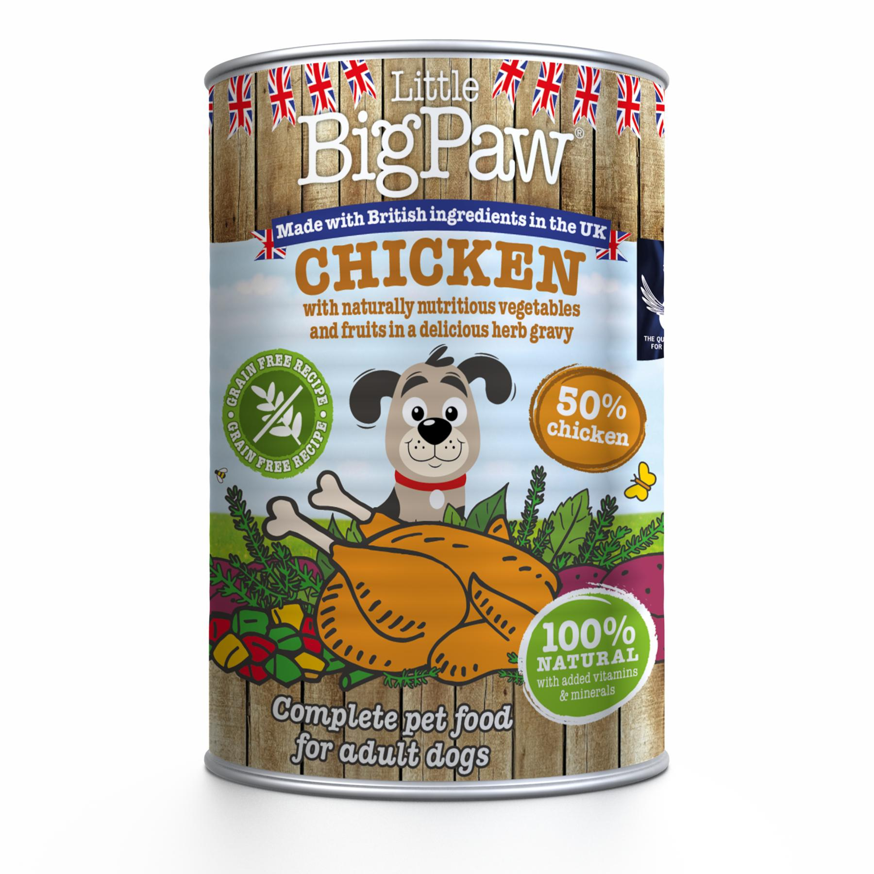 Little BigPaw Chicken with Green Beans, Mixed Peppers & Sweet Potato in Herb Gravy Wet Dog Food, 390-gram