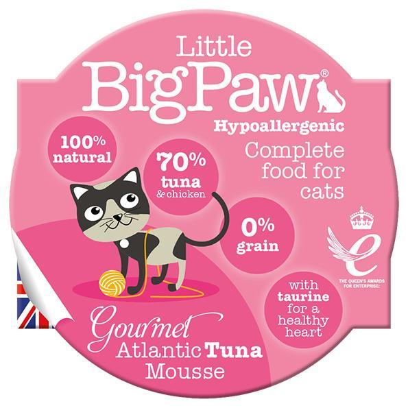 Little BigPaw Gourmet Atlantic Tuna Mousse Wet Cat Food, 85-gram