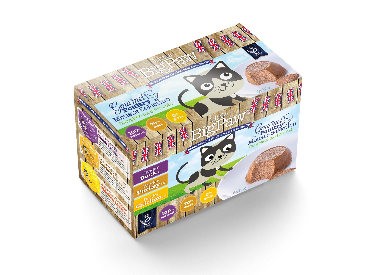 Little BigPaw Gourmet PoultryMousse Selection Wet Cat Food, 85-gram, case of 6
