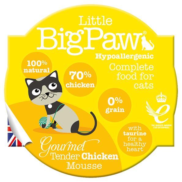 Little BigPaw Gourmet Tender Chicken Mousse Wet Cat Food, 85-gram
