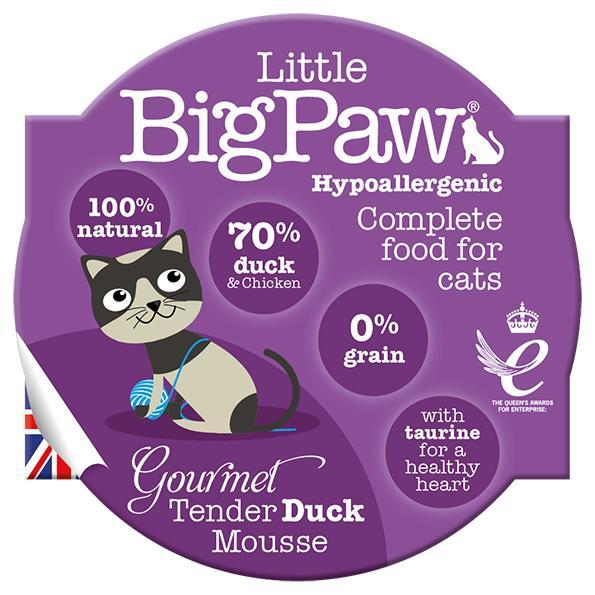 Little BigPaw Gourmet Tender Duck Mousse Wet Cat Food, 85-gram