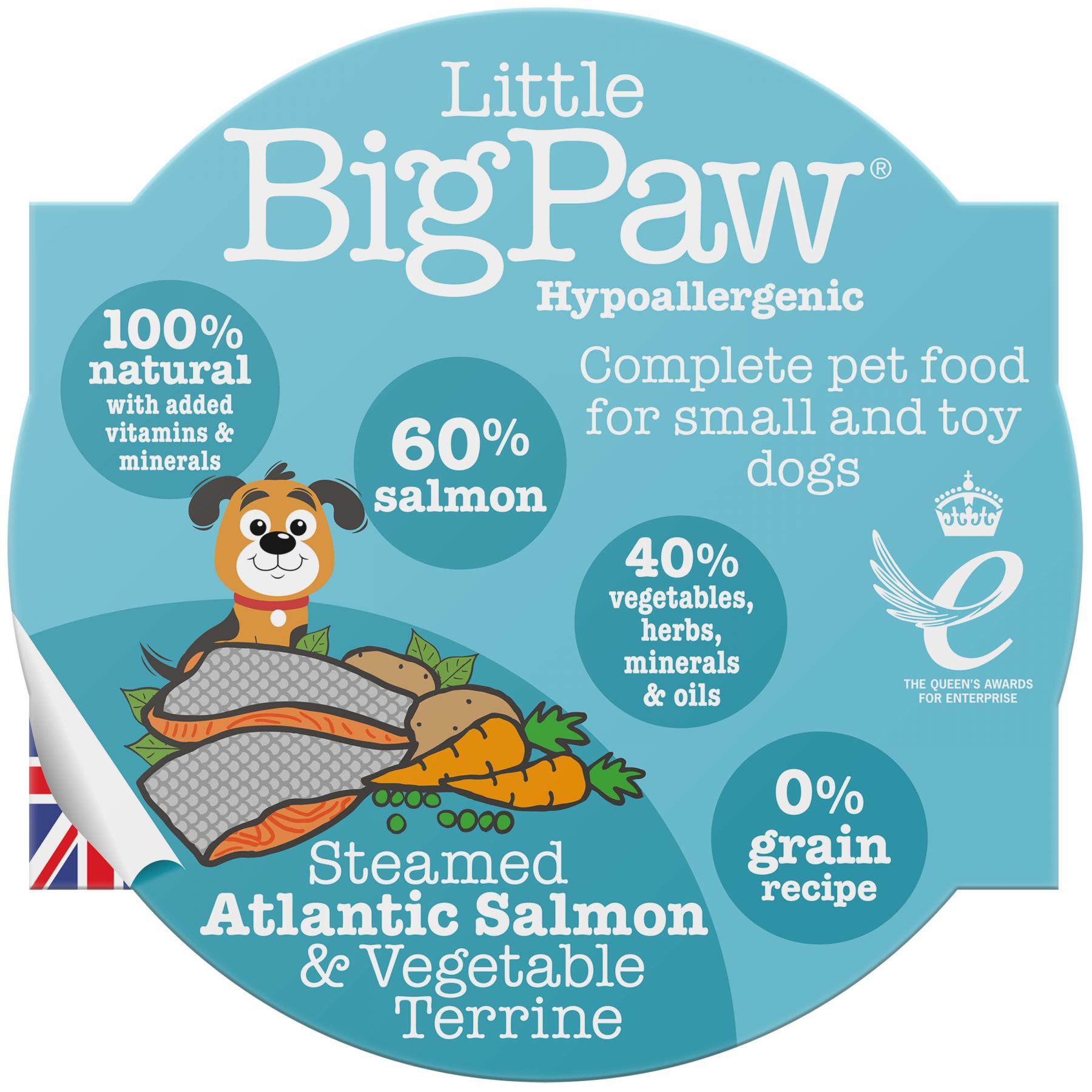 Little BigPaw Steamed Atlantic Salmon & Vegetables Wet Dog Food, 85-gram