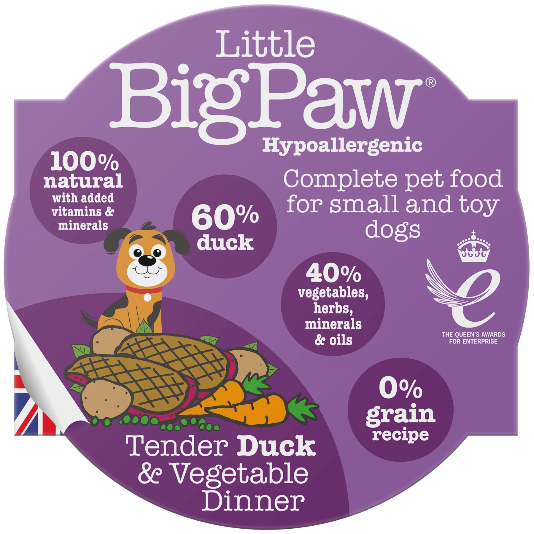 Little BigPaw Tender Duck & Vegetable Dinner Wet Dog Food, 85-gram
